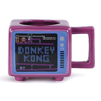 Donkey Kong Retro TV Heat Changing 3D Mug