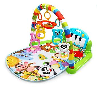 Baby Carpet Play Music Puzzle Mat With Piano Keyboard Educational Rack - Infant