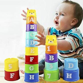 Jouets de tasse d'empilage de bébé - jouet d'intelligence éducative tôt