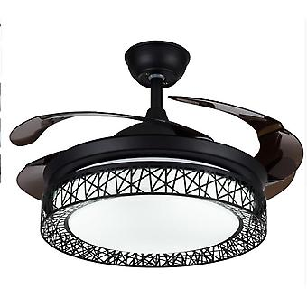 Retro Invisible Ceiling Fan Light For Bed, Living And Dining Room With Modern
