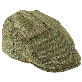 ZH097 (LIGHTOLIVE CHECK XL 62cm ) Kinloch WP British Tweed Flat Cap
