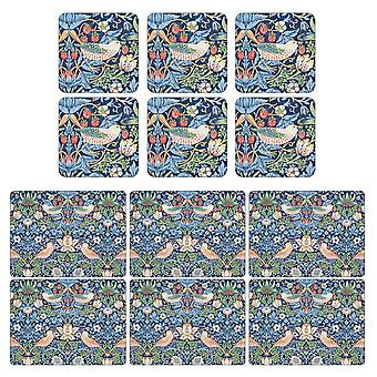 Pimpernel Strawberry Thief Placemats and Coasters Blue Set of 6