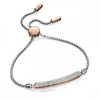 Fiorelli Silver Two Tone Pave Style Bracelet B4776C