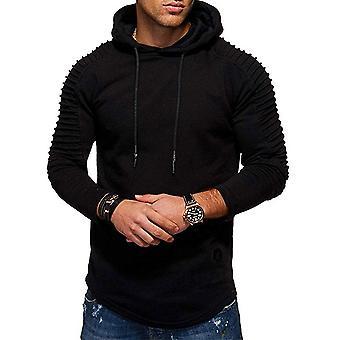 YANGFAN Men's Drawstring Pullover Hoodies Long Sleeve Moleshirt