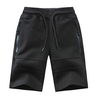 Pantaloncini per bambini- Zipper Pocket Design Kids Casual Knitted Clothes