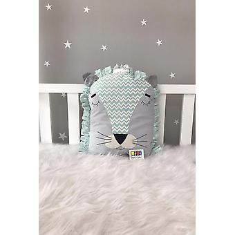 Jaju Baby Gray Mint Lion, Cradle Protection Decor Pillow