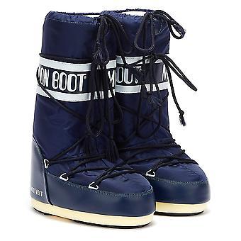 Moon Boot Classic Icon Nylon Womens Blue Boots
