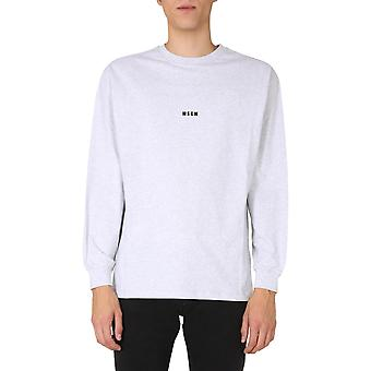 Msgm 2940mm16020759694 Mænd's Grey Cotton Sweater
