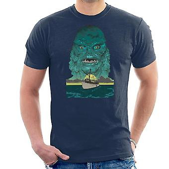 The Creature From The Black Lagoon Demon Head Boat Men's T-Shirt