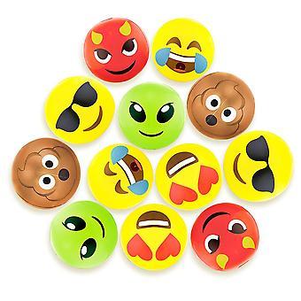"""12 """"emoji חוף בטלנים, 12-pack"""