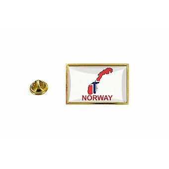 mänty mänty merkki mänty pin-apos;s lippu maakartta N norvege