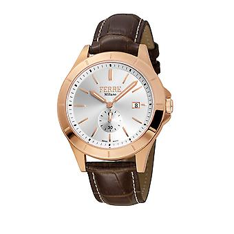 Ferre Milano FM1G080L0031 Leather Strap Watch