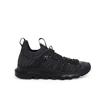 Z Zegna A4604xlhtpuner Men's Black Wool Sneakers