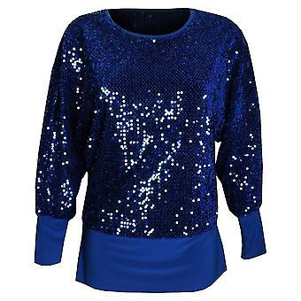 Michaela Louisa Electric Blue Fully Lined Long Sleeve Sequin Top