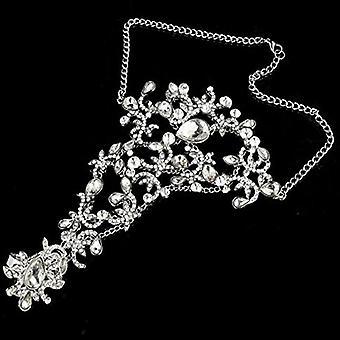 Luxusné Elegantné Crystal kamienky svadobné rukavice náramok Svadobné rukavice