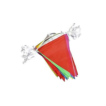 50pcs Colorful Pennant Banner with Scraps ( Red Yellow Blue and Green Powder)