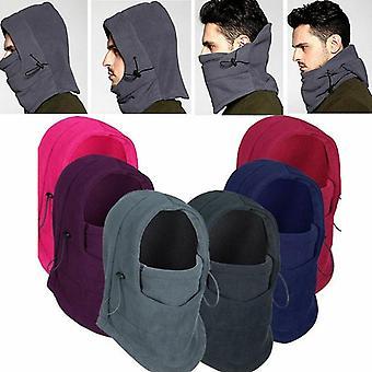 Χειμώνας θερμική fleece και σκι πρόσωπο μάσκα λαιμό θερμότερο κουκούλα καπέλα καπάκι υπαίθρια