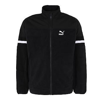 Puma Mens XTG Woven Jacket Winterized Fleece Track Top Black 595889 01
