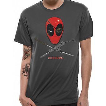 Deadpool Unisex Adults Crossbones Design T-Shirt