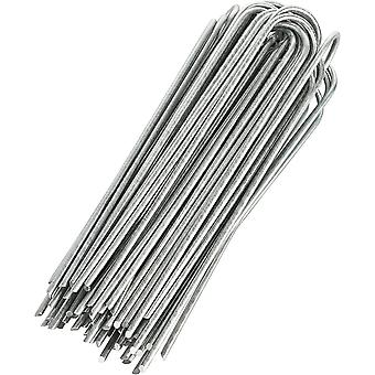 GardenMate Pack of 100 x 200mm multi-purpose steel Garden Securing Pegs - Ideal for hard floors