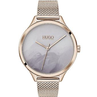HUGO Hugo 1540060 Smash Pale Gold And Grey Ladies Watch