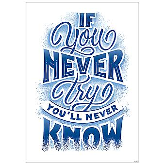 If You Never Try Inspire U Poster - Ctp8585