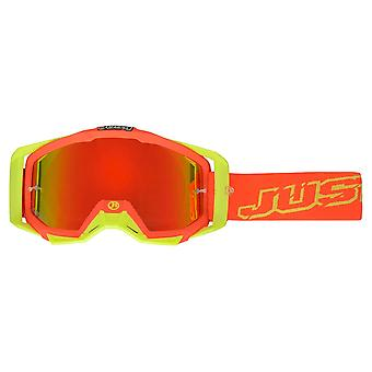 Just1 Iris Neon Red/Yellow MX Goggles