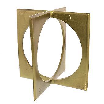 Esculturas geométricas de metal, latón
