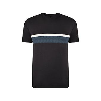 KAM Jeanswear Contrast Chequered Print T-Shirt