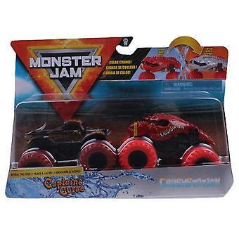Monstertrucks Monster Jam 1:64 Rood / Zwart 2 Stuks
