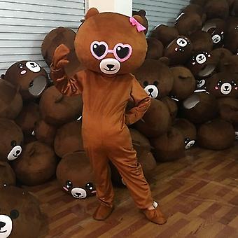 טדי דוב קמע תלבושות חליפה למבוגרים Cosplay מסיבת ליל כל הקדושים שמלת משחק תלבושות