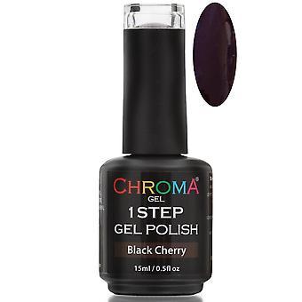 Chroma Gel One Step Gel Polish - Black Cherry