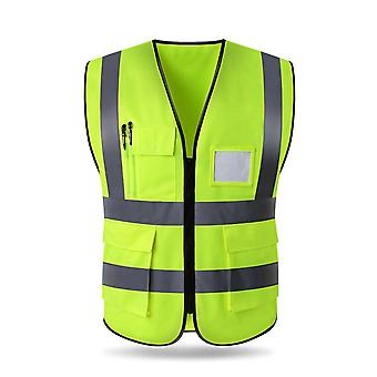 High Visibility Reflective Vest Safety Cloth Warning Waistcoat With Pocket