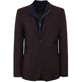 Corneliani Textured Wool Blend Bib Jacket