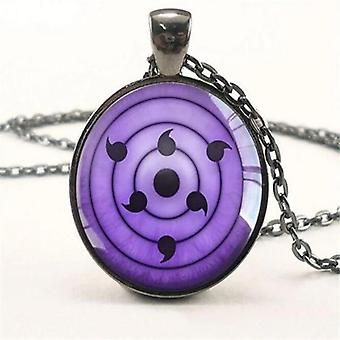 Necklace Vintage Naruto Jewelry Chain/ Glass Pendants Necklaces Anime Pendant