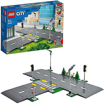 LEGO 60304 City Road Plates Building Set with Traffic Lights and Glow in the Dark