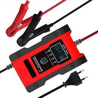 車のバッテリー充電器12v 7a鉛蓄電池充電器lcdディスプレイスマートメンテナンス7段トリクル充電器