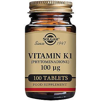 Solgar Natural Vitamin K 100 mcg 100 Tablets