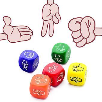 2Pcs Funny Dice Jeux de société Jouet Creative Finger-guessing Jeu Dice Rock Paper Scissors Jeu Ciseaux Stone Family Party Fournitures
