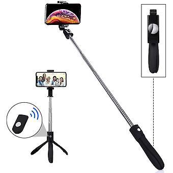 HanFei Selfie Stick Stativ, Erweiterbarer Bluetooth Selfie Stange Stab 360Rotation mit kabelloser