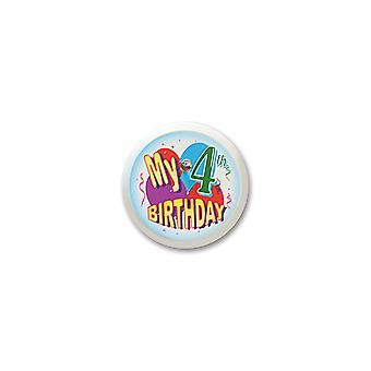 Mein 4. Geburtstag blinkende Taste (Pack von 6)