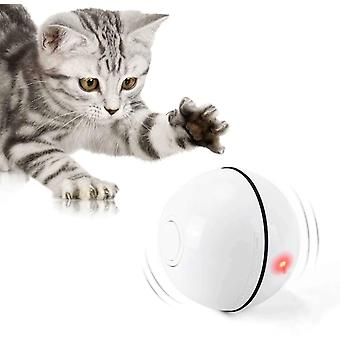 Interactieve kat speelgoed bal met led licht 360 graden zelf-spinnende bal