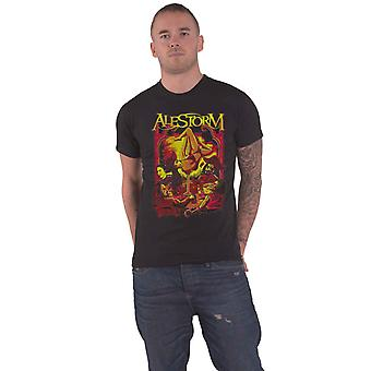 Alestorm T Shirt Surrender The Booty Band Logo new Official Mens Black