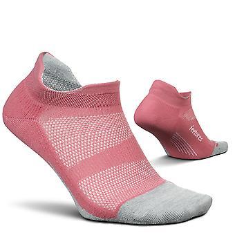 Feetures Elite Cushion No Show Tab Unisex Running Socks, Solid Rose Tea - Medium