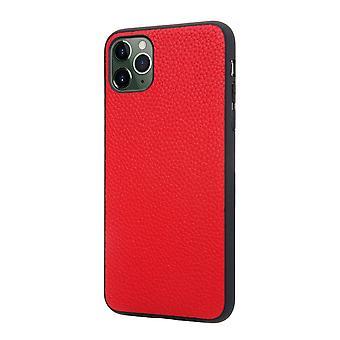 Emplacement pour carte d'étui de portefeuille en cuir véritable pour iphone x / xs rouge pc476