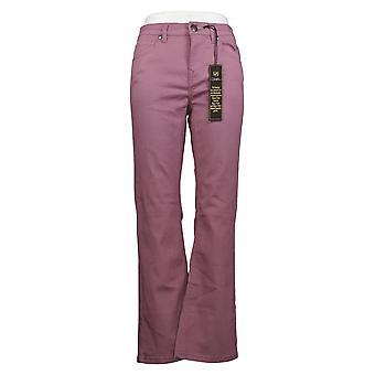 DG2 yB Diane Gilman Women's Petite Jeans Virtual Stretch Boot-Cut Pink 736538