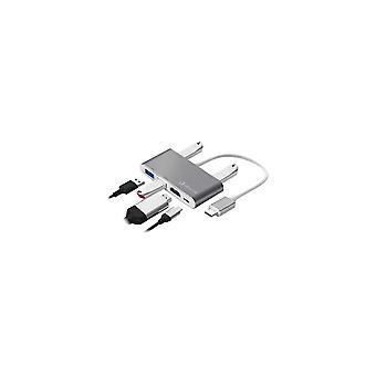 Usb Hub Stříbrná elektronika Logan 6 En 1
