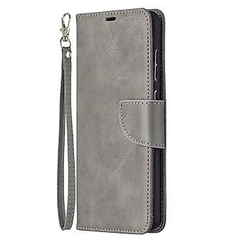 Case Samsung Galaxy A72 5g/4g Leather Cover Folio Wallet Gray