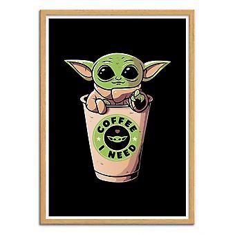 Art-Poster - Coffee I need - EduEly