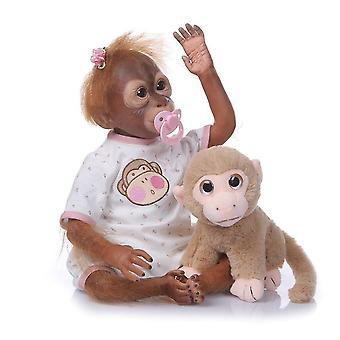 52Cm hecho a mano pintura detallada renacido bebé mono recién nacido bebé muñeca coleccionable muñeca de alta calidad